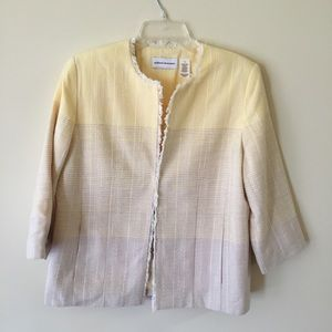 Alfred Dunner blazer Woven Fabric Color Block